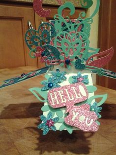 card in a box, going to a tag swap partner.