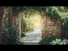 Stone Garden Arch Acrylic Painting LIVE Tutorial Acrylic Painting Tutorials, Painting Videos, Easy Art Lessons, Acrilic Paintings, Garden Stones, Learn To Paint, Simple Art, Art Tutorials, Outdoor Structures