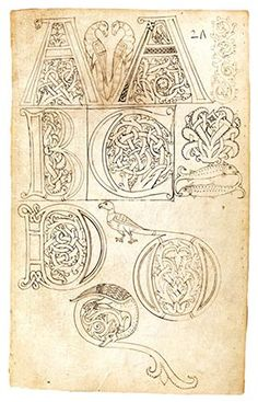Model Book of Initials (1) | Pen and Parchment: Drawing in the Middle Ages Tuscany, Italy; ca. 1175