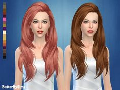 Butterflysims: ButterflySims-Hair-af180-No hat • Sims 4 Downloads  Check more at http://sims4downloads.net/butterflysims-butterflysims-hair-af180-no-hat/