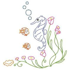 Seahorse Colorwork Machine Embroidery Designs