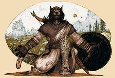 A Khajiit warrior from Skyrim with Whiterun in the background. (x)