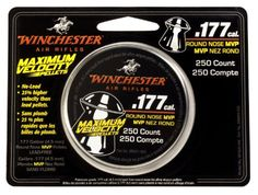 Winchester Maximum Velocity .177-Caliber Air Gun Pellets - http://www.airrifleforsale.com/winchester/winchester-maximum-velocity-177-caliber-air-gun-pellets/ - Choosing the right pellet is important for optimum performance. Your first choice is easy: choose the Winchester brand; the brand that's synonymous with air guns. Your next choice is based on how and what you'll be shooting. Combining accuracy and penetration, you can't do better than Winchester maxim