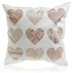 Wilko Hearts Cushion 43x43cm