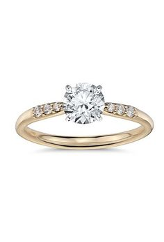 Yellow Gold Engagement Rings | Brides.com