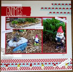 To Gnome Me Is To Love Me  When I saw this new mushroom washi tape from Love My Tapes, I knew it would be fun for this layout.