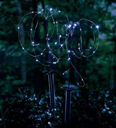 Add magic to your yard at night with solar-powered-rice-light-stakes watch the video. Outdoor Solar Lanterns, Solar Patio Lights, Patio String Lights, Night Garden, Moon Garden, Garden Art, Garden Ideas, Garden Oasis, Garden Accent Lighting