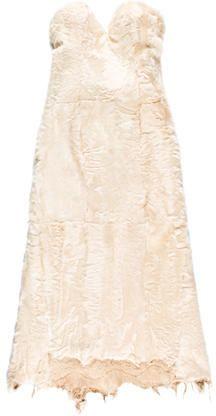 Ermanno Scervino Strapless Fur Dress w/ Tags