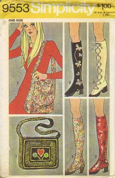 A vintage pattern to make any shoe look like a GoGo boot! amazing!