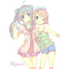 Render Vocaloid Hatsune Miku Kagamine Rin Blonde - Vocaloid - Musiques... ❤ liked on Polyvore featuring anime, vocaloid and render
