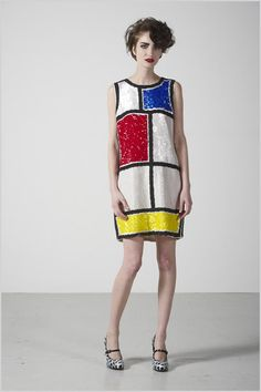 Mondrian dress. Fun to do paper dress/clothes inspired by artists