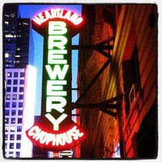 Heartland Brewery Times Square Vintage Neon Signs, Vintage Ads, Love Neon Sign, Beer Week, Brew Pub, Heartland, Places To Eat, Brewery, Norman