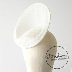 Large Petersham Bound Dipped Disc Fascinator Hat by Petershams