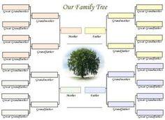 Family Tree Freebies  Family Tree Chart Family Trees And Chart