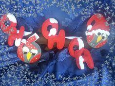 fuori porta natalizio gufoso#handmade#panno lenci# https://www.facebook.com/Il-fatta-mano-di-Luisa-327849927338957/le maddjne#creato a mano con passione#creativemamy