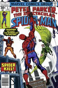 Peter Parker, the Spectacular Spider-Man #5. Cover by Dave Cockrum.  #SpiderMan #DaveCockrum