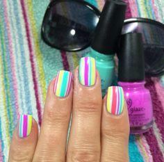Beach towel nails :)