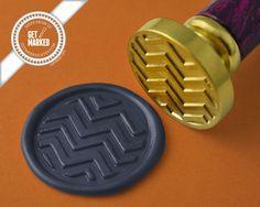 Chevron Pattern - Wax Seal Stamp by Get Marked    #wax, #waxseal, #waxsealstamp, #invitation, #DIY, #wedding, #GetMarked