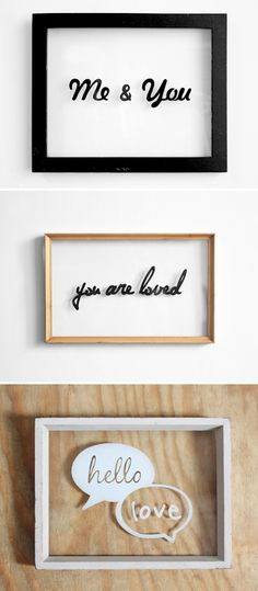 Hand drawn typography on glass frames created using sharpie pens @ DIY Home Cuteness