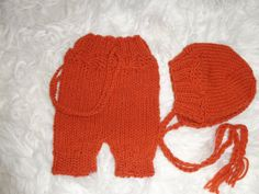 Newborn SetBaby Pants&Hat  Made Soft In Wool by knitsdwarfs, $35.00