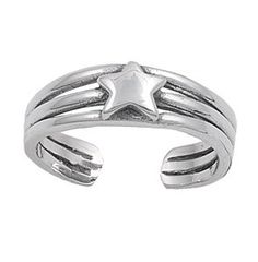 Sterling Silver Star Mid Finger / Knuckle Ring