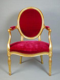 "George III Adam Period giltwood armchair Ca1780 England. 38.58""H x 24.41""W x 25.2""D."