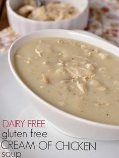 Dairy Free and Gluten Free Cream of Chicken Soup
