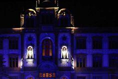 13. Rostocker Lichtwoche | Illuminiertes Hauptgebäude der Universität Rostock (c) Frank Koebsch (2)
