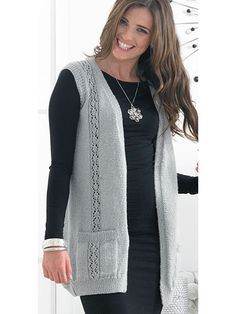 Cardigan & Waistcoat Knit Pattern from Annie's Craft Store. Order here…