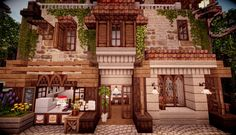These texture packs are seriously gorgeous 😮 Pc Minecraft, Minecraft Cottage, Cute Minecraft Houses, Skins Minecraft, Minecraft House Designs, Minecraft Construction, Minecraft Survival, Minecraft Blueprints, Minecraft Creations