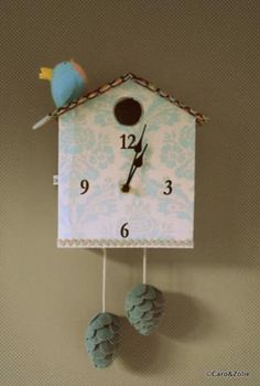 illustrated coo coo clock craft pinterest