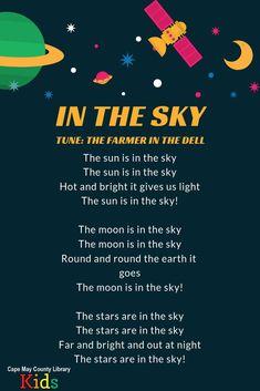 In the Sky - Whirlpool Galaxy-Andromeda Galaxy-Black Holes Space Theme Preschool, Preschool Music, Preschool Lessons, Preschool Learning, In Kindergarten, Space Theme Classroom, Songs For Toddlers, Kids Songs, Rhymes Songs