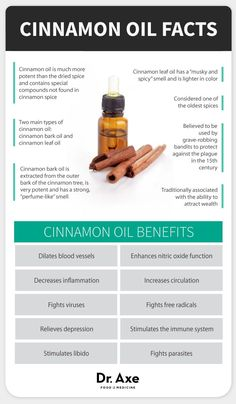 Cinnamon oil benefits - Dr. Axe http://www.draxe.com #health #holistic #natural