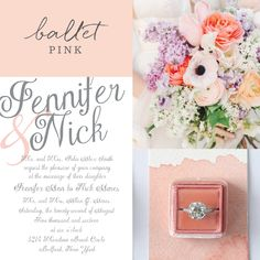 Make these classic wedding invitations pop a bit while showing off your sweet…