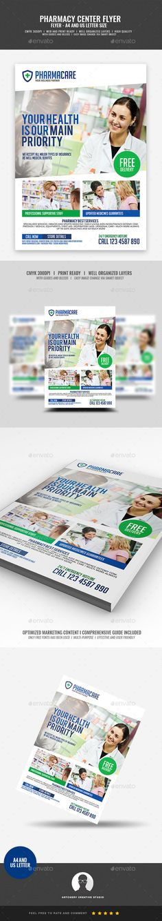 Pharmacy Company Flyer Design Template Boost your company¡¯s sales and attract new customers! This Pharmacy Company Flyer Design Template have been developed to boost your Ultimate Marketing strategy and brand/product awareness, Perfect for large and small businesses, packed with well-studied effective marketing content.A FLYER TEMPLATE THAT HAS A