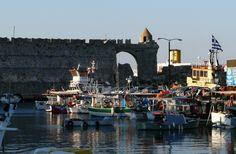 Rhodes Town Greece Islands, Rhodes, Tower Bridge, Brooklyn Bridge, Travel, Viajes, Destinations, Traveling, Trips