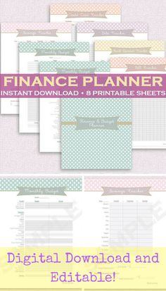 This planner looks like the perfect way to get my finances under control this year! Being organized with bills, income, and expenses will help a lot and help me avoid unnecessary fees that I shouldn't be paying in the first place!#budget#planner#ad#finances#organization#download#pdf#daveramsey#money#etsy#worksheet#debt#billtracker #financeplanner #digital #bills #savings #expenses