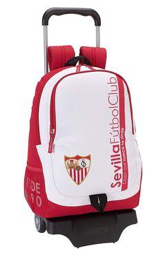 Safta Mochila Sevilla F.C. Oficial Escolar Con Carro Safta 330x150x430mm   Amazon.es  Equipaje 19a5361065a
