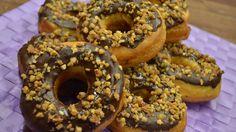 #114 Double Schoko Donuts gefüllt | Krokant | selber machen | Kanal-ELF ...