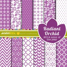 2014's colour of the yearRadiant Orchid Digital Scrapbooking Paper by SunshineLemons. Love it!