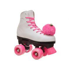 Epic Pink Princess Quad Roller Skates, White