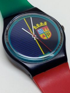 Vintage Swatch Watch Sir Swatch 1986 by ThatIsSoFunny on Etsy