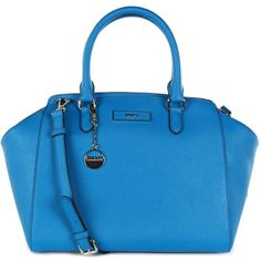 DKNY Women's Iconic Logo Vivid Blue Tote Bag found on Polyvore