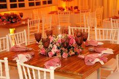Casamento Casa da Amizade em Branco & Rosa