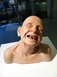 """Tip Toland """"Deafening"""" Ceramic, Paint, Dry Pigment Lifesize    NCECA 2012, Seattle Design Center"""