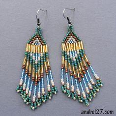 Стильные серьги ручной работы из бисера. Проект 365 earrings - 28 / 365