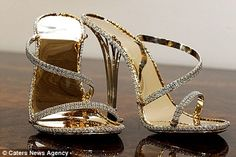 """World's Most Expensive Pair of Shoes""   The Eternal Borgezie Diamond Stilettos by luxury jeweler House of Borgezie"