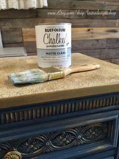 Rustoleum Chalk Paint Sealer Matte Finish! Furniture Makeover * DIY * Painted Furniture www.Etsy.com/shop/lauradesignsshop