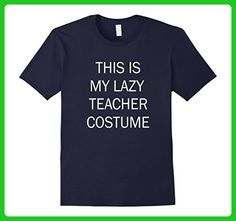Mens This Is My Lazy Teacher Costume Medium Navy - Careers professions shirts (*Amazon Partner-Link)