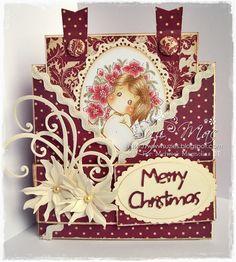 Magnolia cross fold card by Suzi Mac Creations